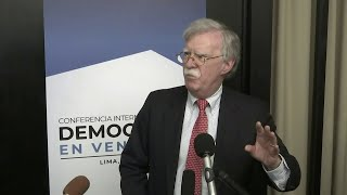 Bolton warns foreigners that violate Venezuela asset freeze about U.S. consequences