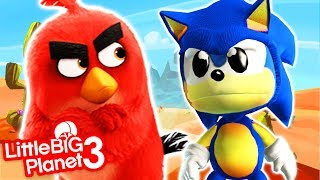 SONIC vs ANGRY BIRDS 2 - LittleBigPlanet 3 PS4 Gameplay
