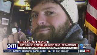 Murder and robbery charges declared mistrial in death of Canton Bartender