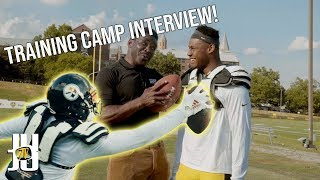 Training Camp Interview with Michael Irvin!   Behind the Scenes