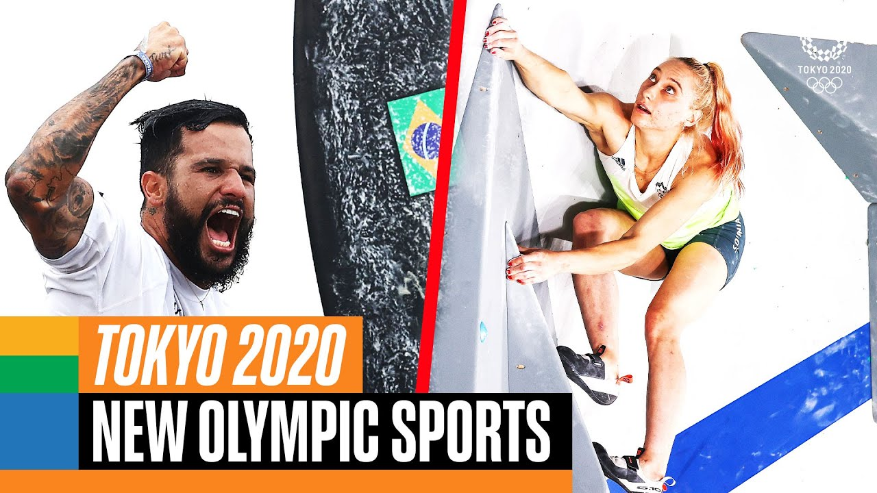 Which Sports were NEW at Tokyo 2020? 🏄♂️ 🛹 ⛹️♂️ 🧗♂️