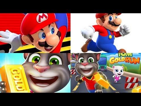 My Talking Tom Vs Super Mario Run - GamePlay