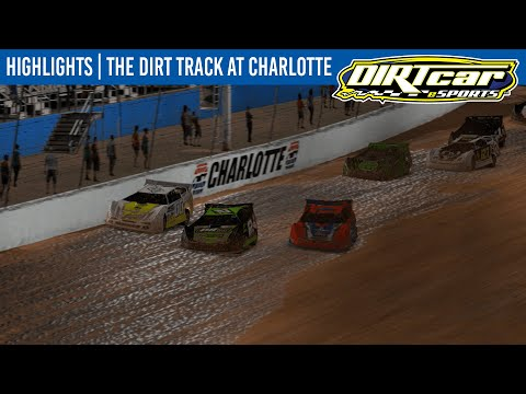 DIRTcar eSports Pro Late Models at The Dirt Track at Charlotte April 14, 2021 | HIGHLIGHTS - dirt track racing video image