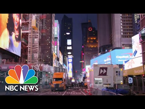 Times Square All But Empty As U.S. Quietly Marks New Year's Eve | NBC Nightly News