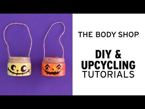 How to: DIY Halloween dekorationer: Återvinningsbar Halloweenlykta!- The Body Shop