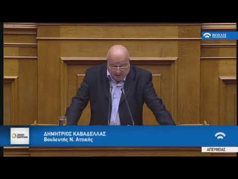 Δ. Καβαδέλλας / Ολομέλεια, Βουλή/13-11-2017