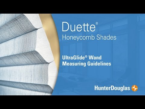 Duette® Honeycomb Shades - UltraGlide® Wand Measuring Guidelines - Hunter Douglas