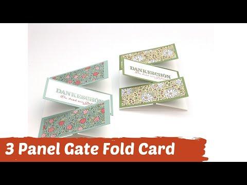 Faltkarte mit Trick--Three Panel Gate Fold Card--Anleitung