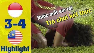 HIGHLIGHT U18 Indonesia - U18 Malaysia | Malaysia xuất sắc bước vào chung kết bằng
