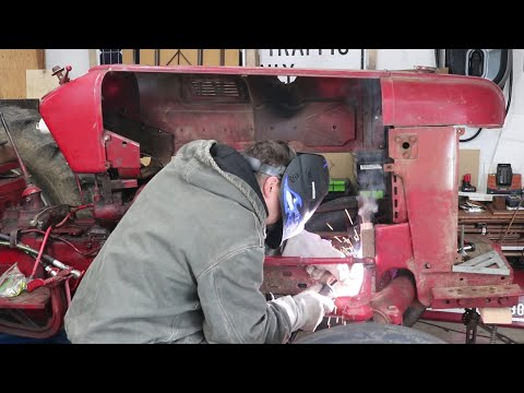 Welding and Rolling the Tractor