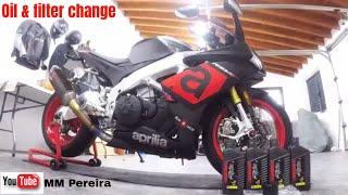 Cambio olio motore Aprilia Rsv4