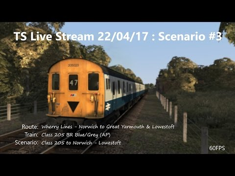 Class 205 to Norwich - Lowestoft (Livestream 22/04/17)