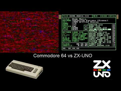 Commodore 64 real Vs ZX_UNO, Probando el SID #Commodore manía videos