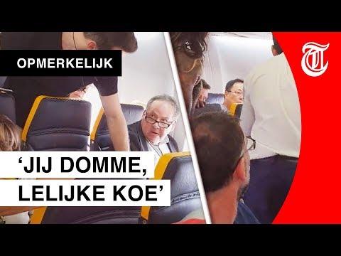 Racist in vliegtuig: 'Domme, lelijke koe'