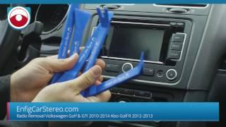 Smontaggio autoradio Volkswagen Golf 6 GTI