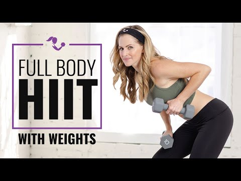 30 Minute Full Body HIIT with Weights Workouts: Dumbbell or Kettlebell or Both for Strength & Cardio