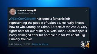 Trump Reacts To John Hickenlooper Joining Senate Race