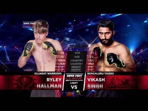 Unbelievable comeback! Ryley Hallman v/s Vikas Singh Gujarat Warriors v/s Bengaluru Tigers