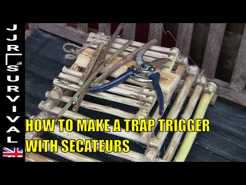 How To Make An Arapuca Bird Trap With Secatuers