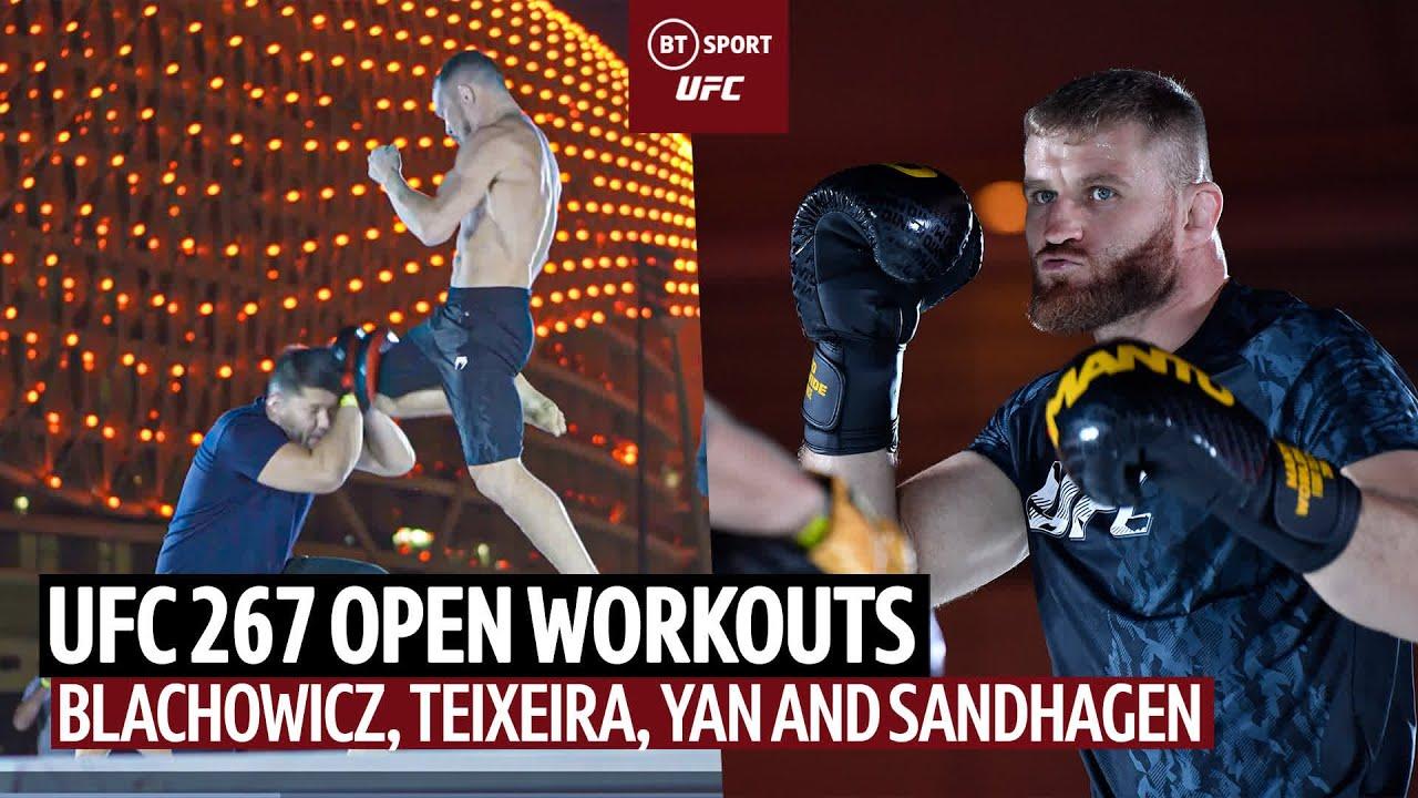 UFC 267 Open Workouts: Yan takes shots at Aljamain Sterling; Blachowicz, Teixeira and Sandhagen spar