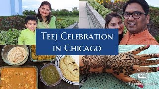 Hamara Haryali Teej Celebration | Indian Veg Thali at home | Indian Mom's Routine