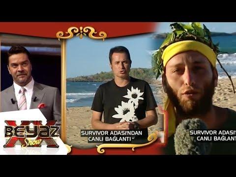 Beyaz, Survivor Adasına Canlı Yayın ile Bağlandı - Beyaz Show