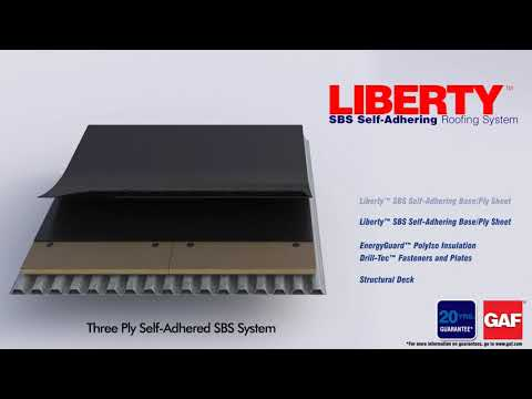 Liberty Three Ply Self-Adhered SBS System by GAP