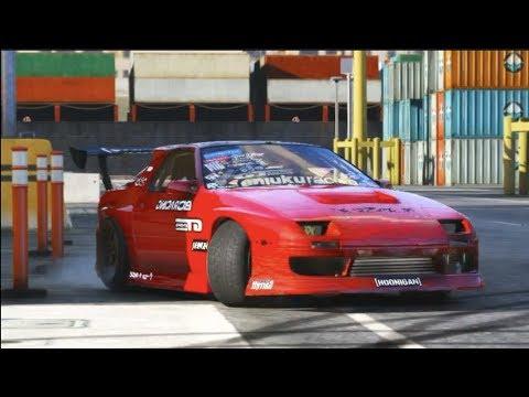 Assetto Corsa Test Drifting S13 w/Camera Mods GoPro Wheel Cam 1080p