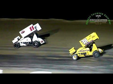 Desert Thunder Raceway 360 Sprint Car Main Event 7/23/21 - dirt track racing video image