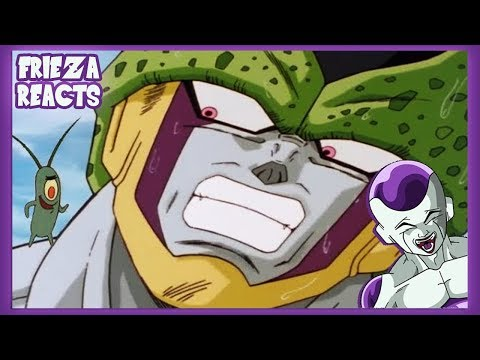 FRIEZA REACTS TO I SWITCHED PERFECT CELL'S VOICE WITH PLANKTON'S!
