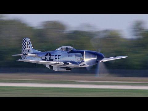 20 - P-51 Mustangs take-off! HUGE formation of humming Merlins fill the air! - UC-C5NXslEk8EH6qnNZQG9cA