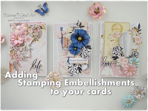Handmade Cards with Stamping Embellishments ♡ Maremi's Small Art ♡