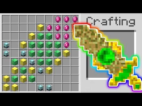 Minecraft: HOW TO CRAFT A *LEGENDARY* 1,000,000 DOLLAR  SWORD IN MINECRAFT!!!