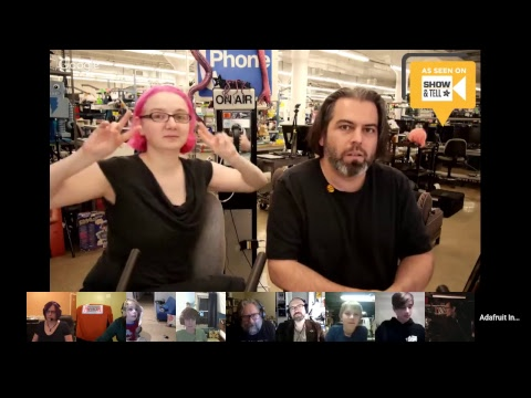SHOW-AND-TELL LIVE VIDEO! 1/17/18 @adafruit #adafruit #showandtell