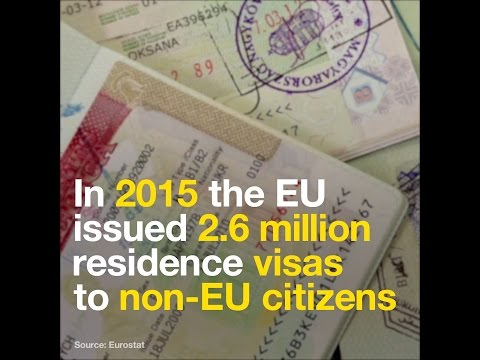 Which country is getting the most EU visas