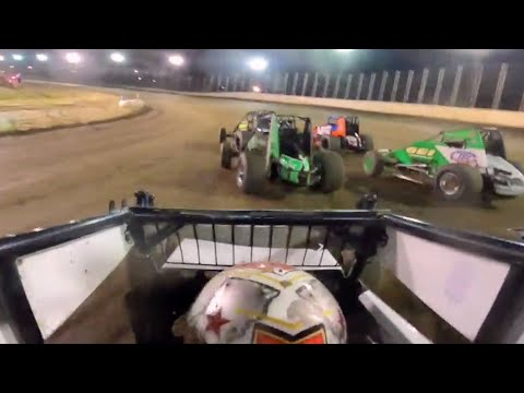 Onboard: Robert Ballou Charges To USAC Victory at Bridgeport Speedway - dirt track racing video image