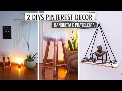 2 DIY's Pinterest! Prateleira de Corda & Banco de Pelúcia – Súper Fáceis!
