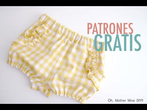 PATRONES GRATIS: Pantalón bombacho para niñas