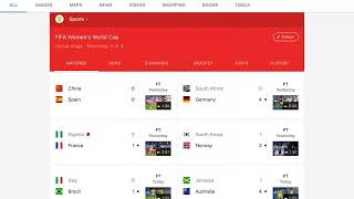 Women's World Cup day 11 results