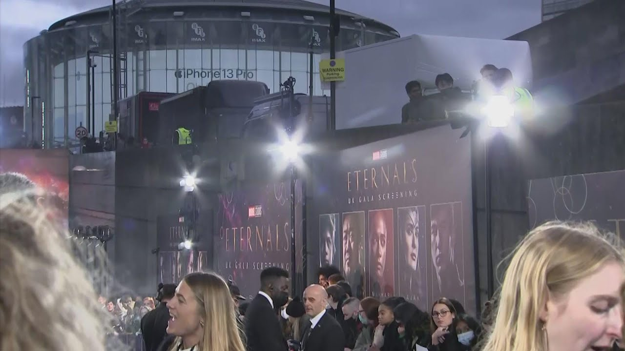 'Eternals' stars celebrate film's diversity at London premiere