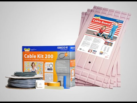 Komplett golvvärme från Ebeco - Cable Kit