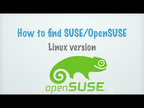 Finding OpenSUSE Linux (SUSE) Version Using Various CLI Options