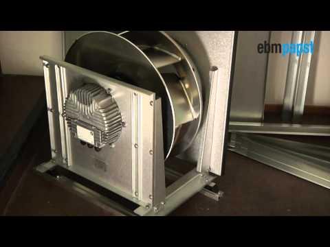 Installation av kammarfläkt i ventilationsaggregat