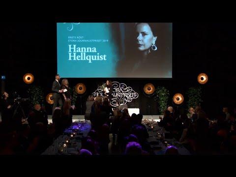 Hanna Hellquist vinnare av Årets Röst – Stora Journalistpriset 2019