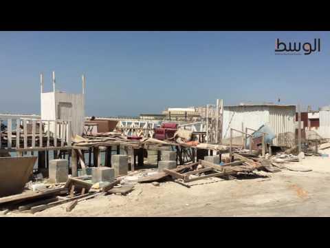 الجرافات تضرب كبائن ساحل الغوص لليوم الثاني