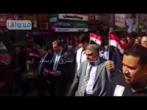 جامعة بنها تنظم وقفة ومسيرة حاشدة للتضامن مع القوات المسلحه والشرطه فى حربهما ضد الارهاب