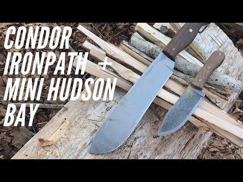 Condor Ironpath + Mini Hudson Bay + AMAZING Custom Sheath from Black Bear Custon Kydex