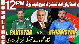 Shah Mahmood prediction about today match | Headlines 12 PM | 29 June 2019 | AbbTakk News
