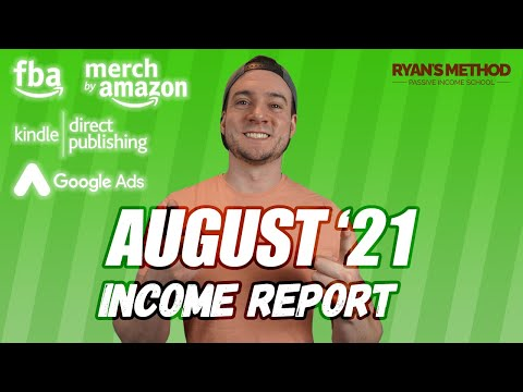 August 2021 Passive Income Report (Amazon FBA, Merch, KDP, Print on Demand, Google Ads)