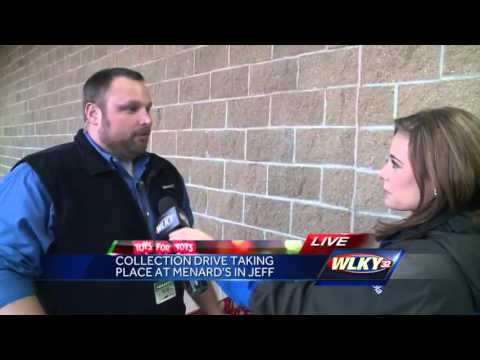 Menards collects Toys for Tots